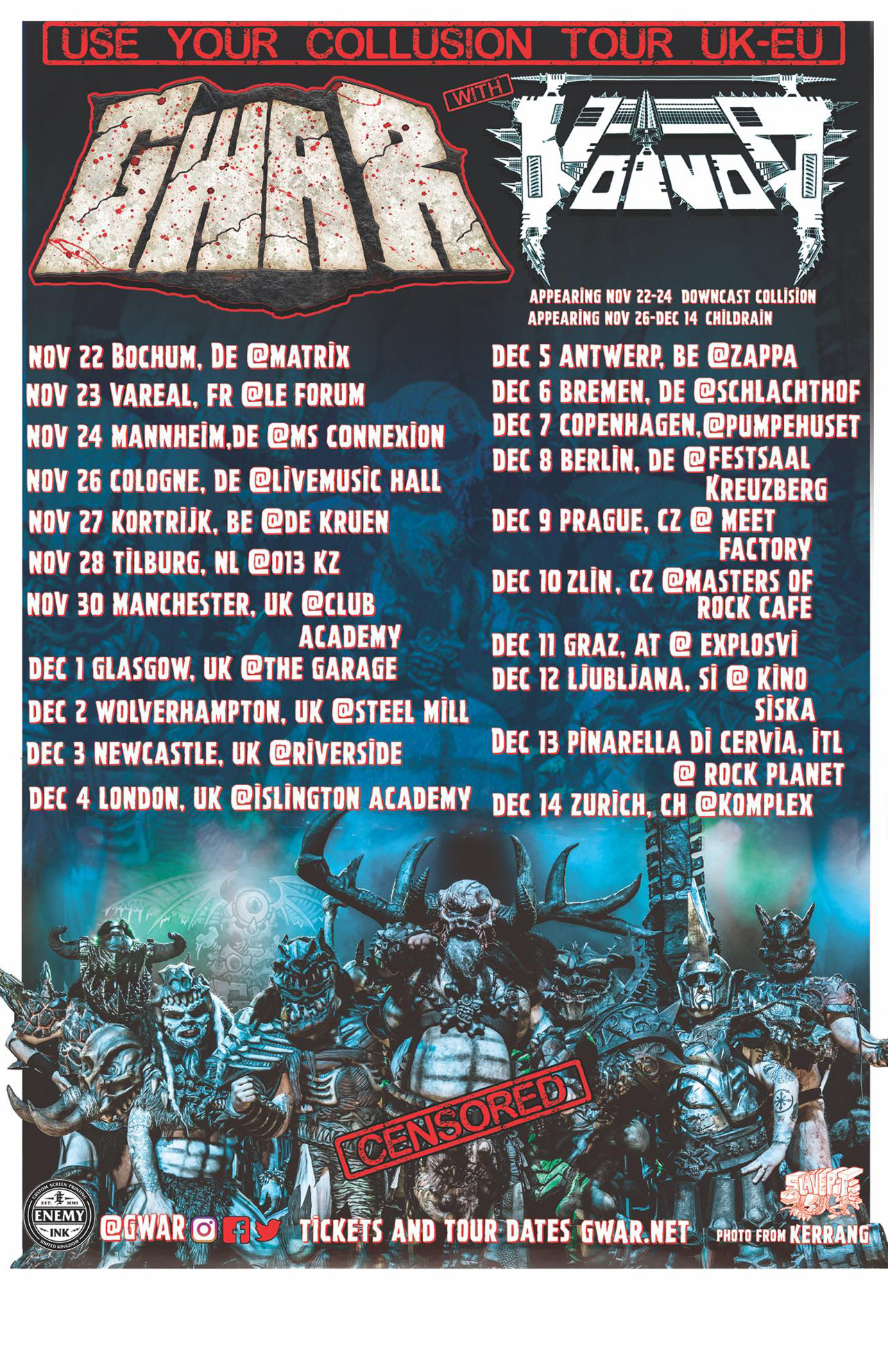 Gwar and Voivod announce UK and European tour | Louder