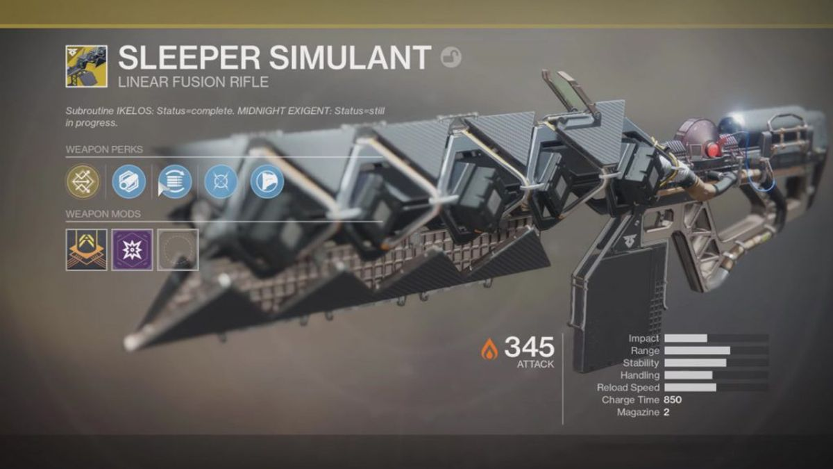 How to get the Sleeper Simulant linear fusion rifle in Destiny 2 ...