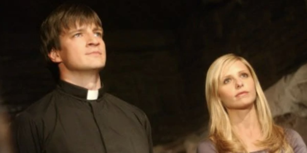 Nathan Fillion and Sarah Michelle Gellar on Buffy the Vampire Slayer