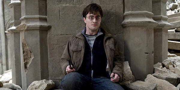Daniel Radcliffe as Harry Potter in The Deathly Hallows Part 2