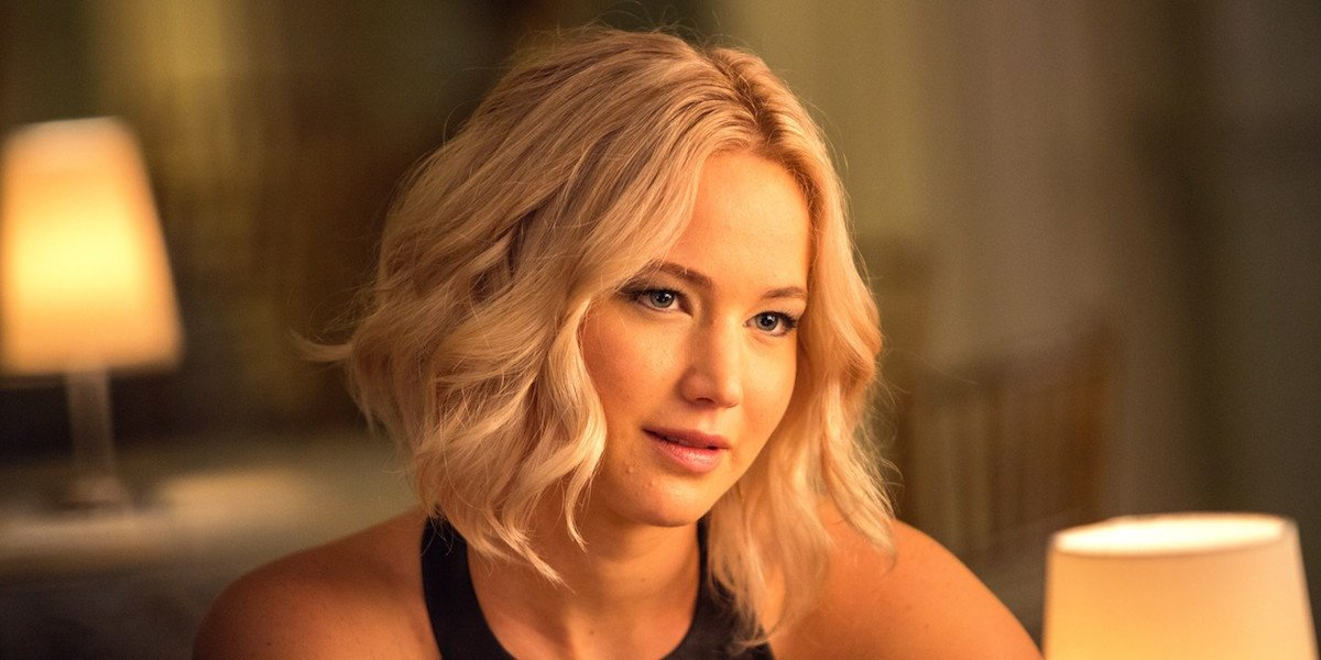 Jennifer Lawrence smiles in a scene from Passengers.