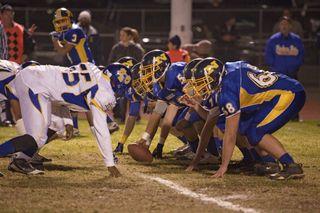 High-school football scrimmage.
