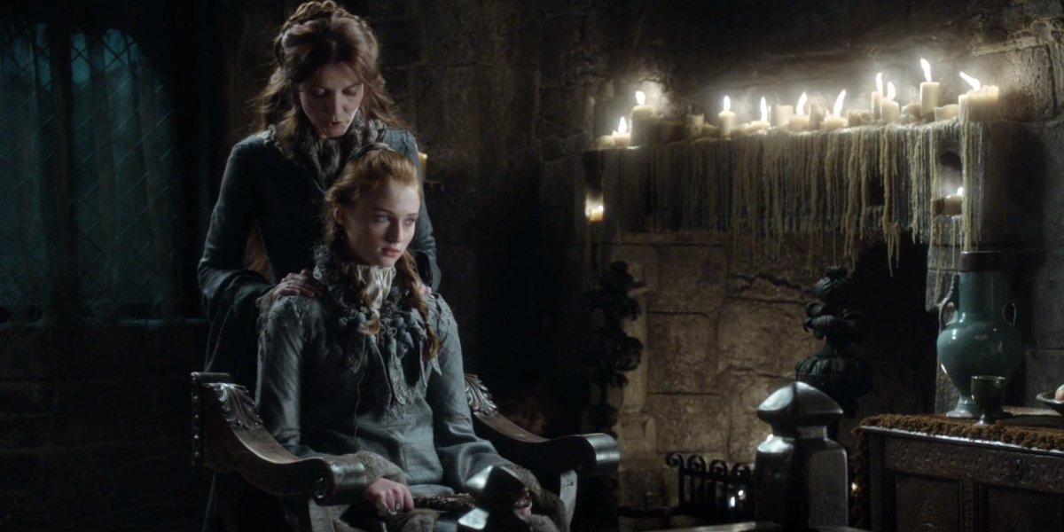 Sophie Turner and Michelle Fairley on Game Of Thrones