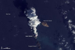 Plume From the Red Sea Island