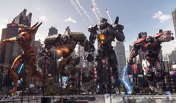Pacific Rim: Uprising Jaegers ready to rock in the town square