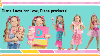 Diana with her line of products