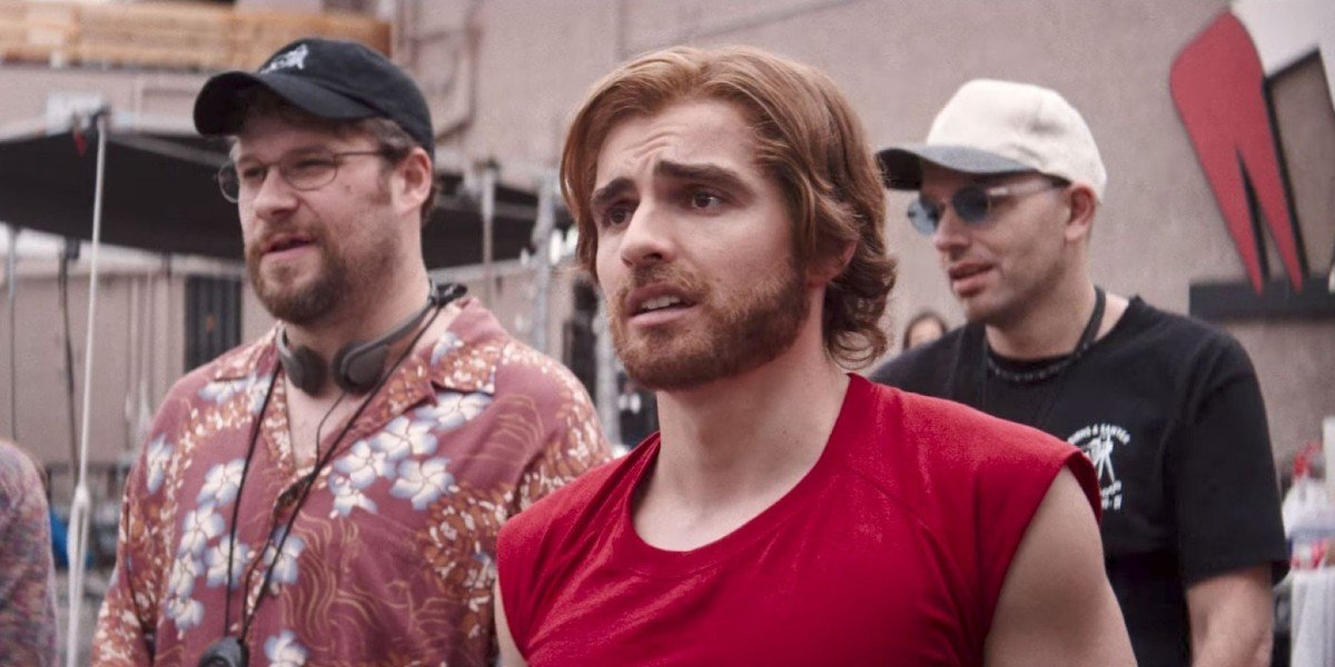 Seth Rogen, Dave Franco, and Paul Sheer in The Disaster Artist