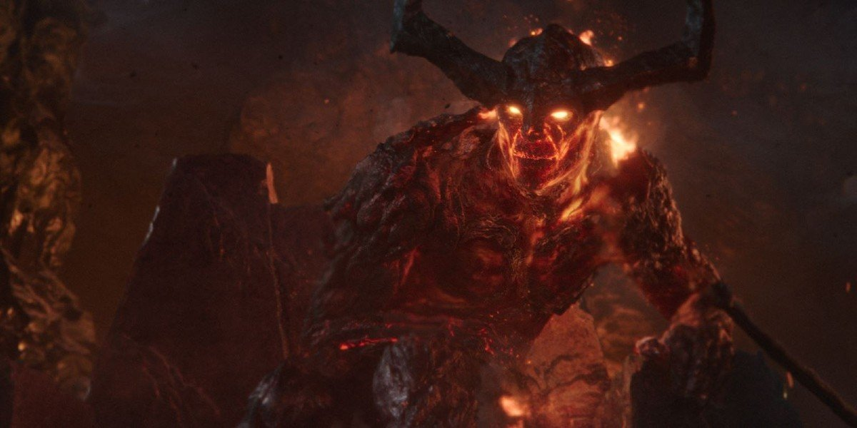 Screenshot of Surtur from Thor: Ragnarok