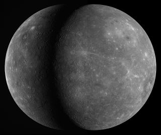 Two views of Mercury captured by NASA's MESSENGER spacecraft on Jan. 14, 2008, and Sept. 29, 2009.