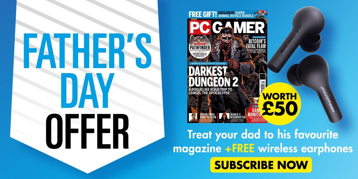 Get a free pair of wireless earbuds when you subscribe to PC Gamer magazine this Father's Day