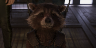 Rocket crying in Guardians 2
