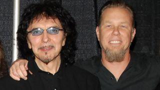 Tony Iommi and James Hetfield