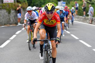 COLICO ITALY JULY 07 Margarita Victoria Garcia Caellas of Spain and Team Ale Btc Ljubljana during the 32nd Giro dItalia Internazionale Femminile 2021 Stage 6 a 155km stage from Colico to Colico GiroDonne UCIWWT on July 07 2021 in Colico Italy Photo by Luc ClaessenGetty Images