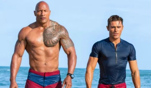 Zac Efron and Dwayne Johnson in Baywatch