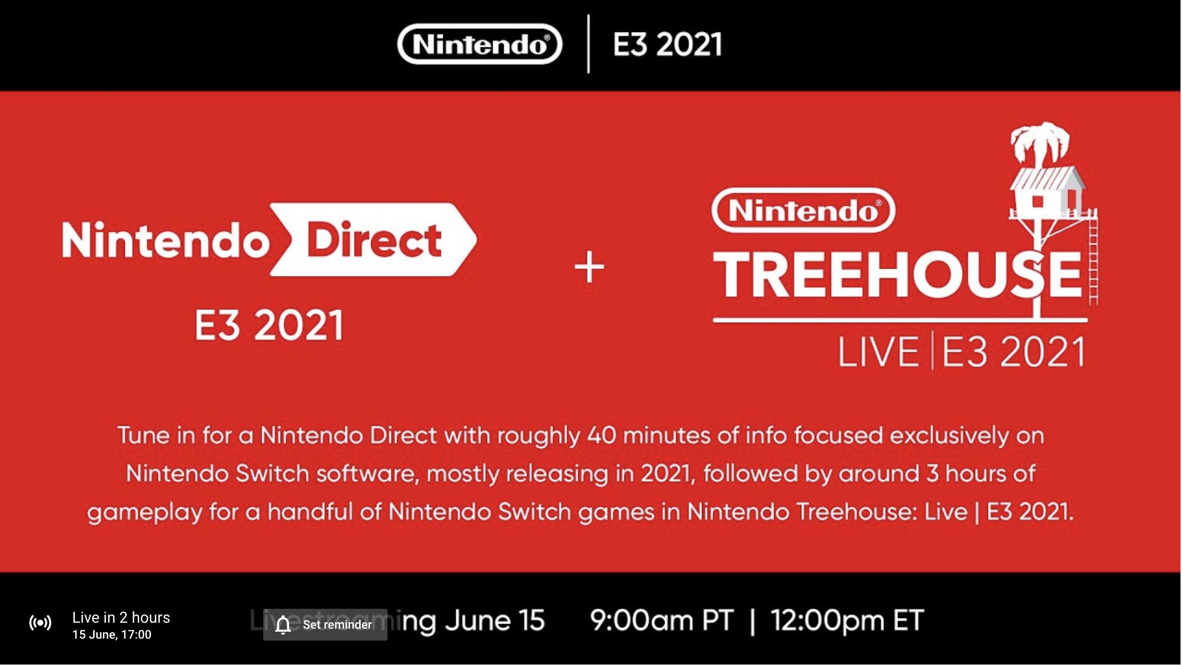 Nintendo Direct E3 2021 placeholder