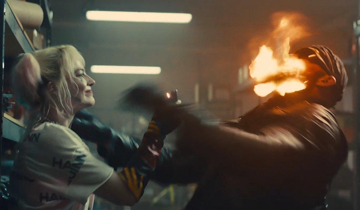 Harley Quinn beard burning in Birds of Prey