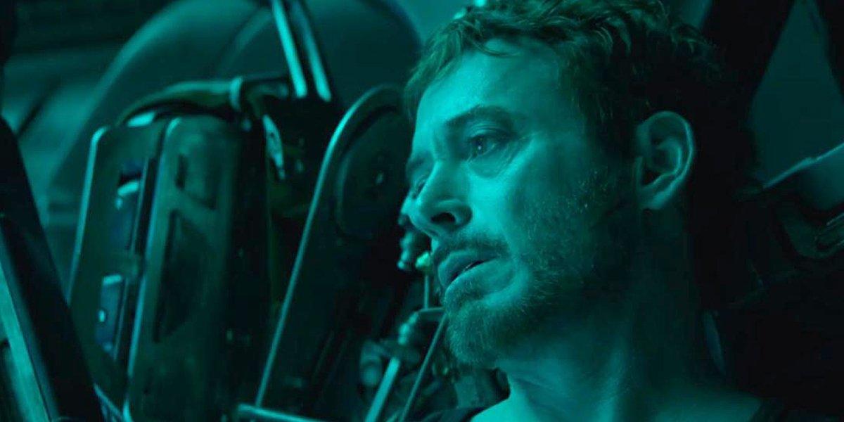 Avengers: Endgame Tony Stark green light background Marvel Studios