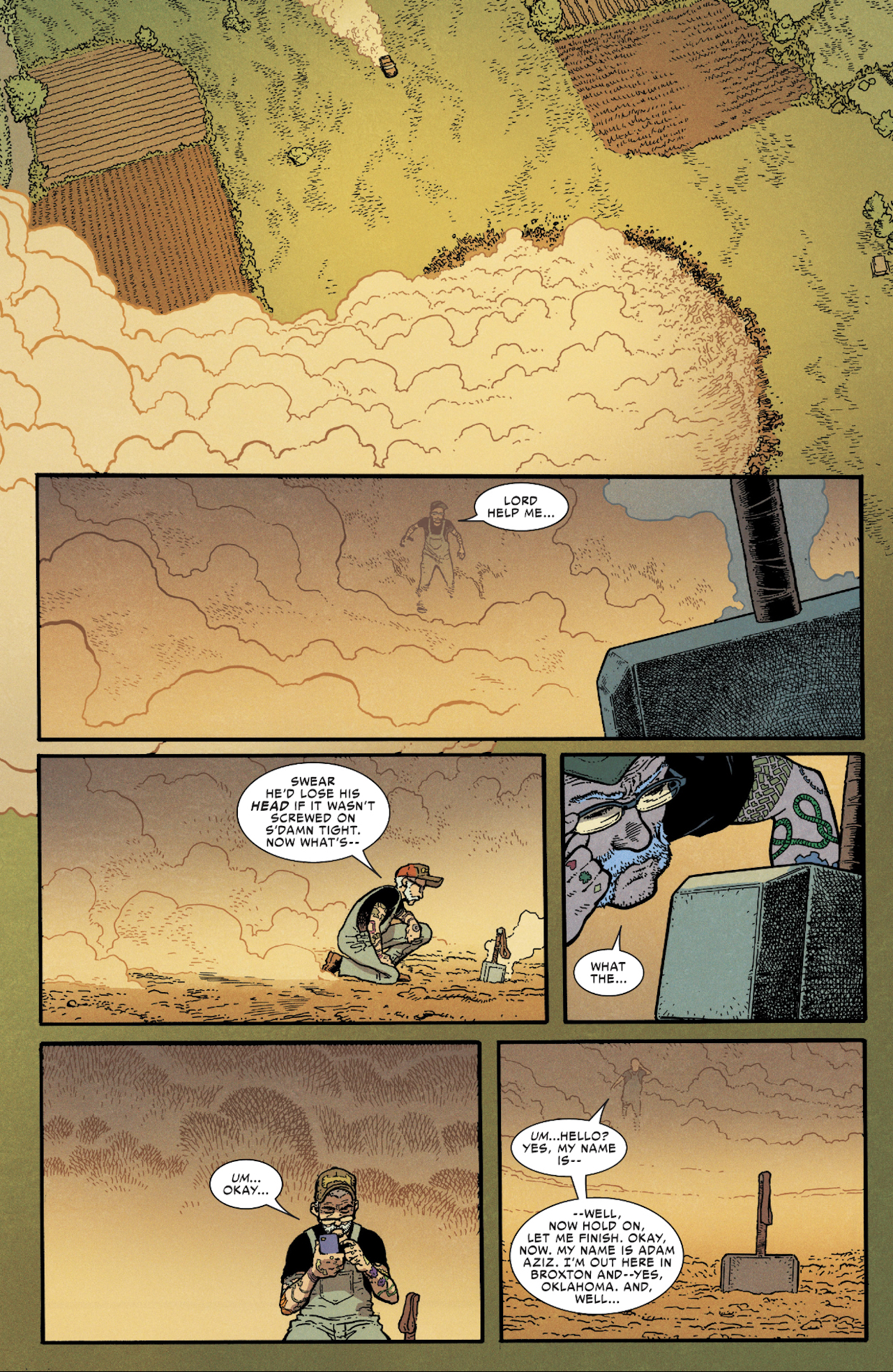 Scene from brand new Thor #7 comic