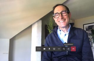 Josh Sapan on Meet from his Shelter Island home.