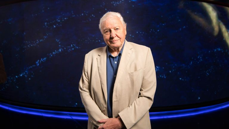 Sir David Attenborough attends the world premiere of 'Seven Worlds, One Planet