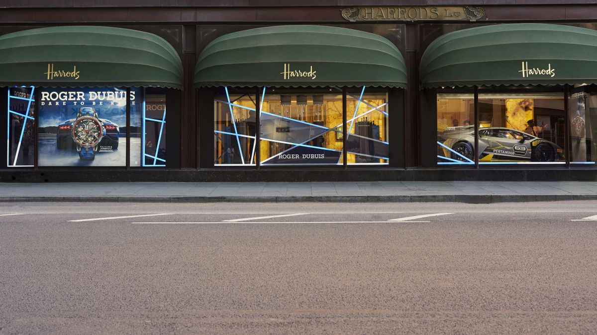 Things to do in London: Visit the Roger Dubuis pop-up in Harrods for some motorsport fuelled adrenaline