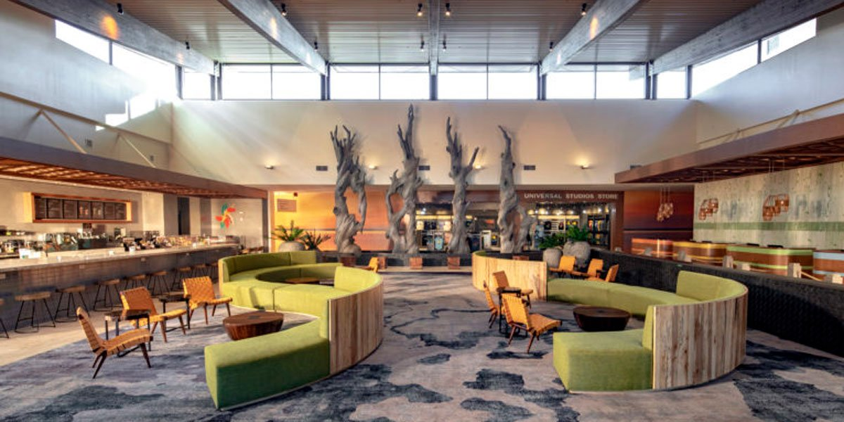 Dockside Beach driftwood in lobby