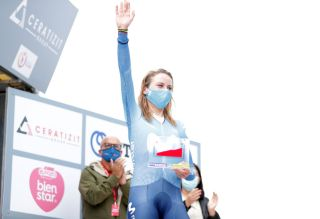 Annemiek van Vleuten (Movistar) after winning stage 2 of the Ceratizit Challenge by La Vuelta 2021