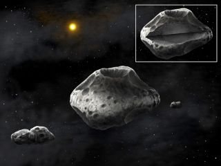 Artist's Concept of Asteroid (87) Sylvia