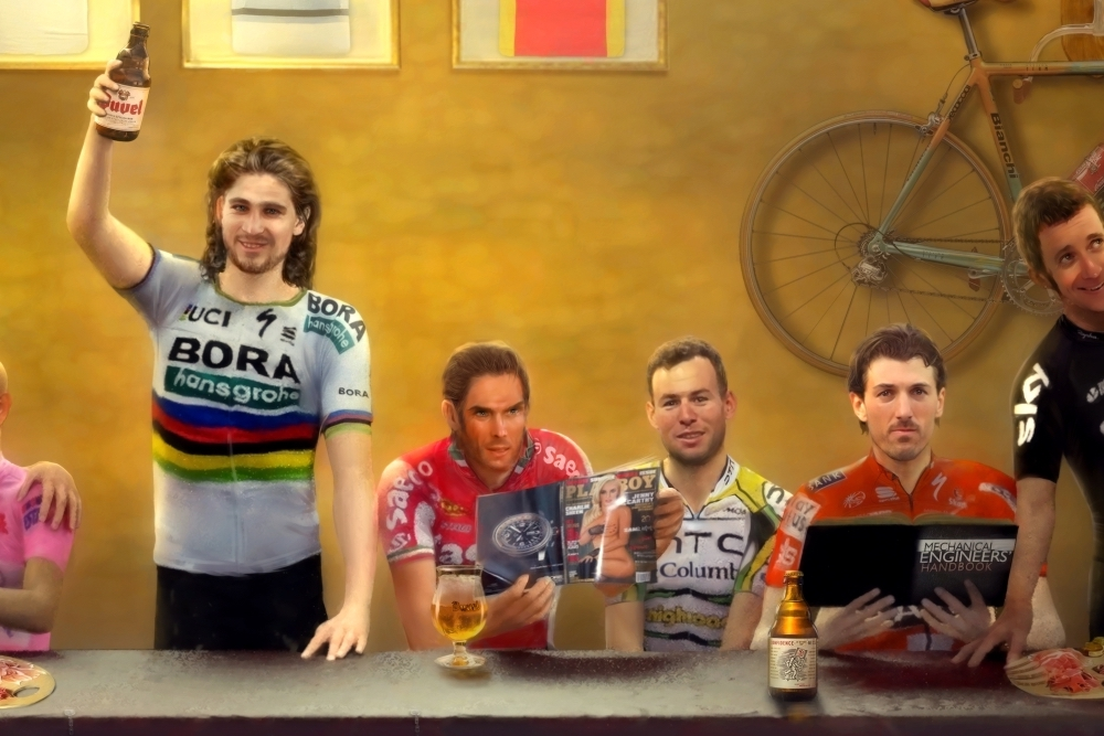 Cycling's last supper – new artwork now available - Cycling Weekly