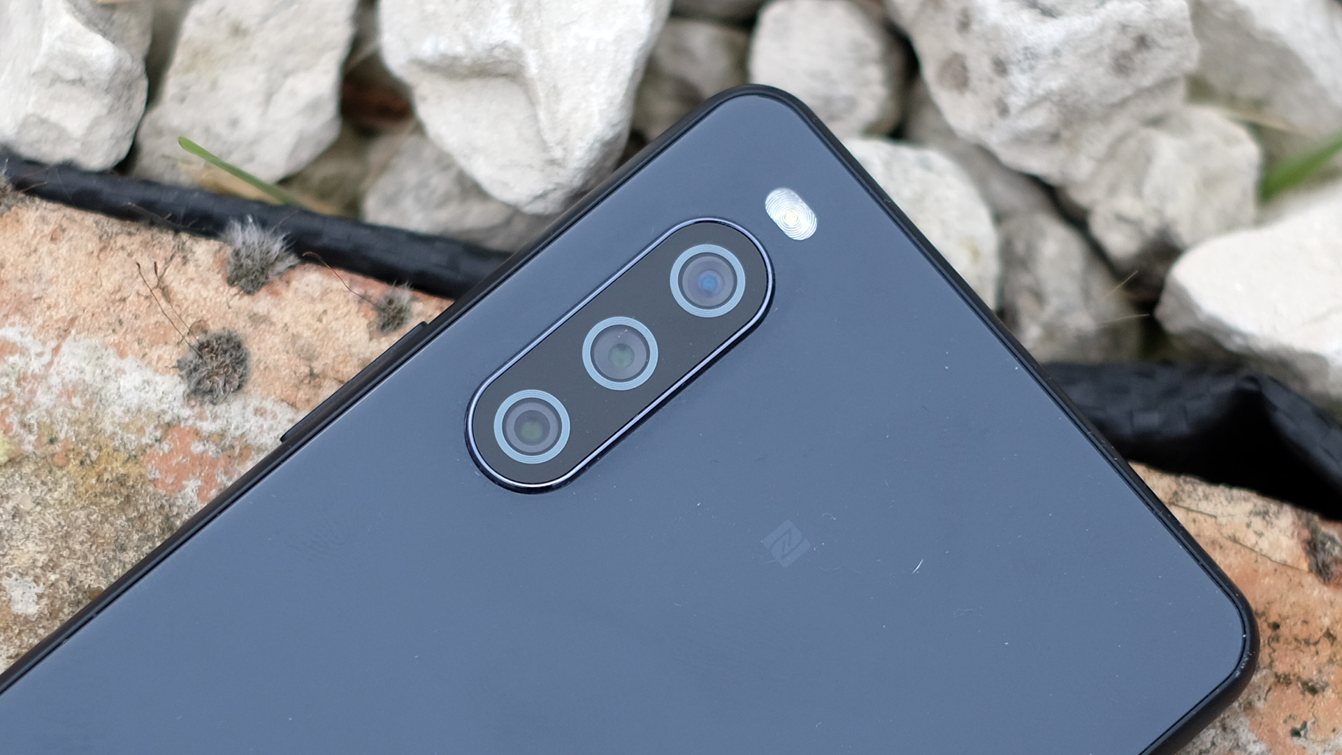 A close-up of the Sony Xperia 10 III's cameras