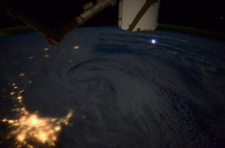 NASA astronaut Terry Virts took this photo of the January 2015 winter storm from the International Space Station. He posted the picture, which shows the storm churning near Boston, on Twitter on Jan. 28.