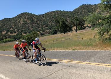 The breakaway on stage 3 of the 2018 Tour of California