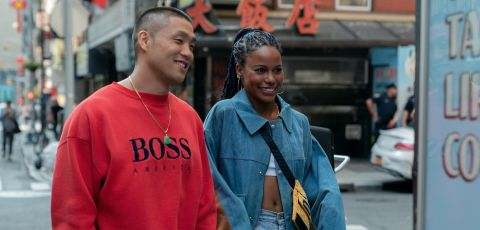 Taylor Takahashi and Taylour Paige play aspiring basketball star Alfred and his girlfriend Eleanor in writer-director Eddie Huang's feature debut.