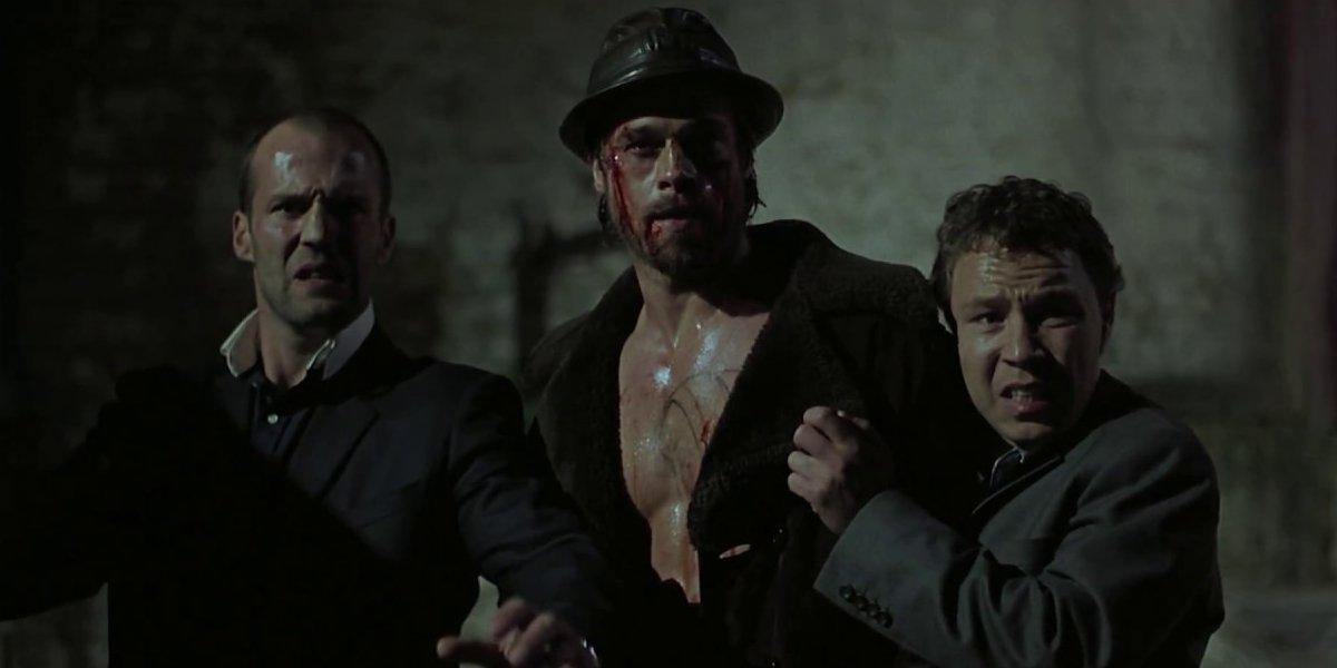 Jason Statham and Brad Pitt in Snatch