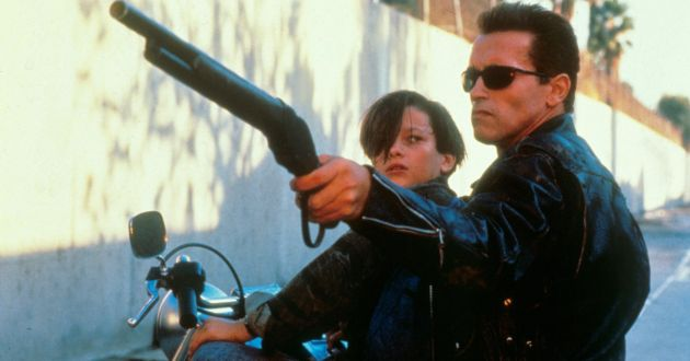 No Merchandising. Editorial Use Only. No Book Cover Usage. Mandatory Credit: Photo by Moviestore/REX/Shutterstock (1653289a) Terminator 2: Judgement Day,  Edward Furlong,  Arnold Schwarzenegger Film and Television