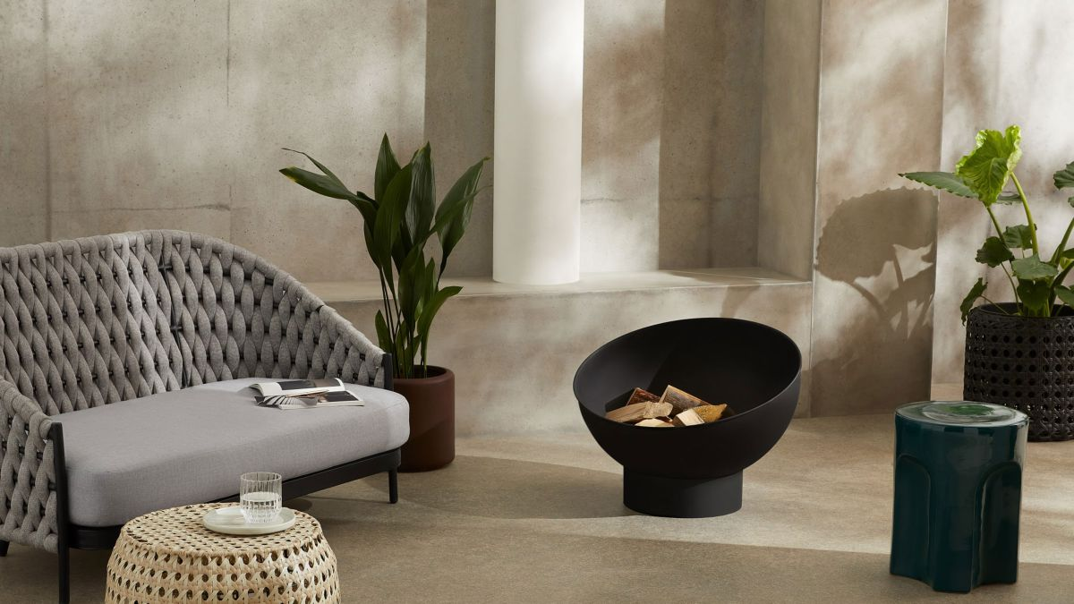 This modern fire pit is perfect for chilly evenings – and it's only £129