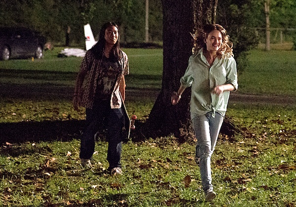 Angie running