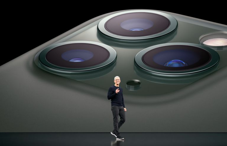 Tim Cook launching the 2019 iPhone 11