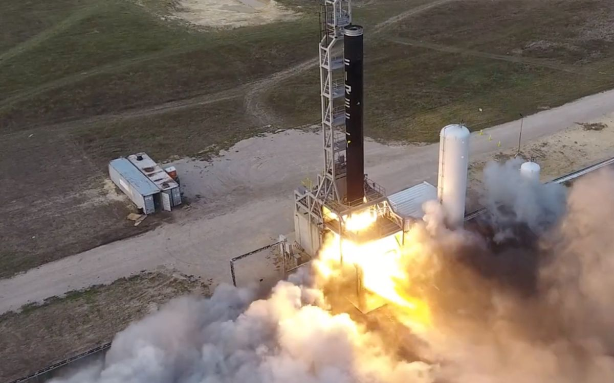 Watch Firefly Aerospace test-fire its Alpha rocket in this stunning drone video