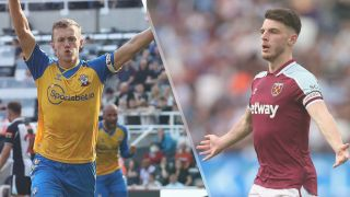 Southampton vs West Ham United live stream — James Ward-Prowse of Southampton and Declan Rice of West Ham United