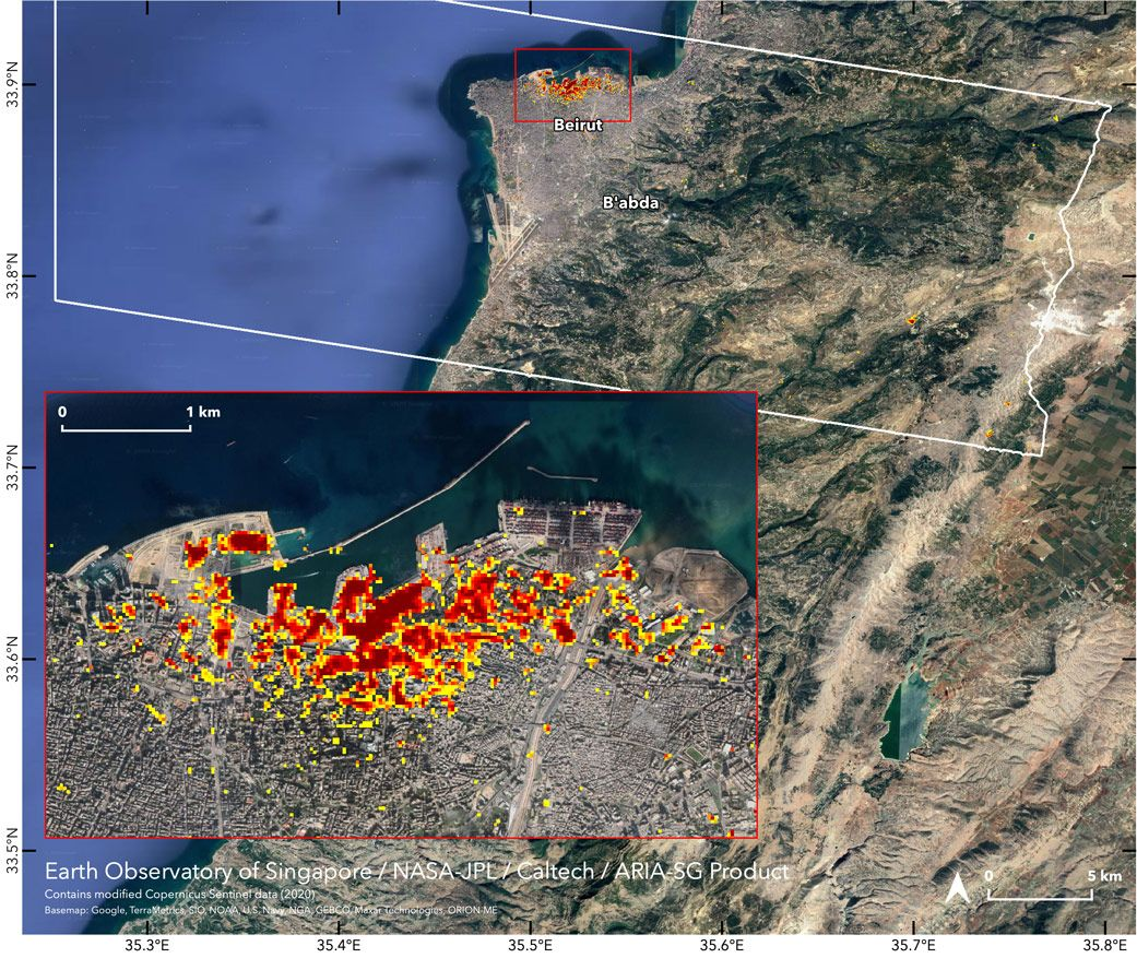NASA maps Beirut explosion damage from space with satellites - Space.com