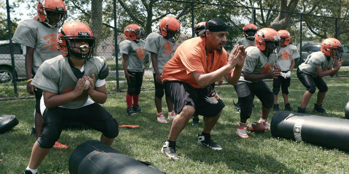We Are: The Brooklyn Saints Coach Gawuala football practice