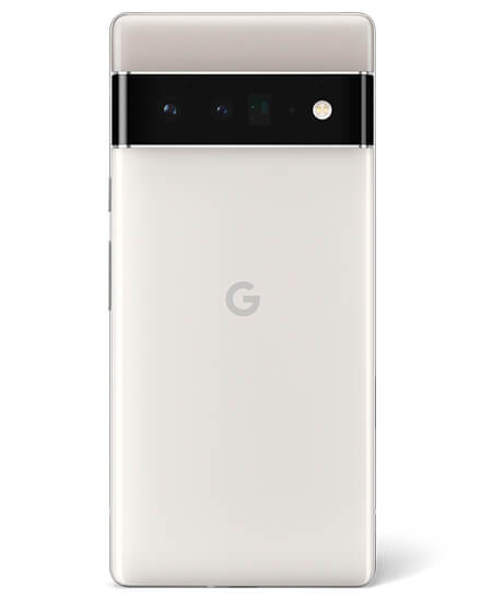Pixel 6 in Cloudy White