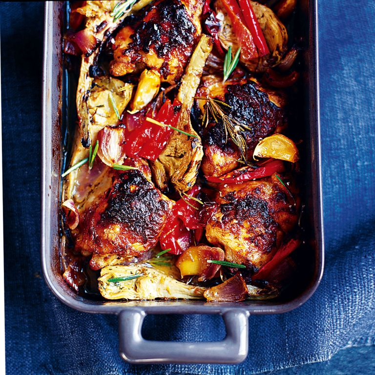 Mustard Chicken with Roasted Vegetables recipe-recipe ideas-new recipes-woman and home