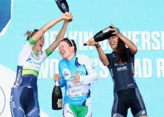 The podium at the Cadel Evans Great Ocean Road Race