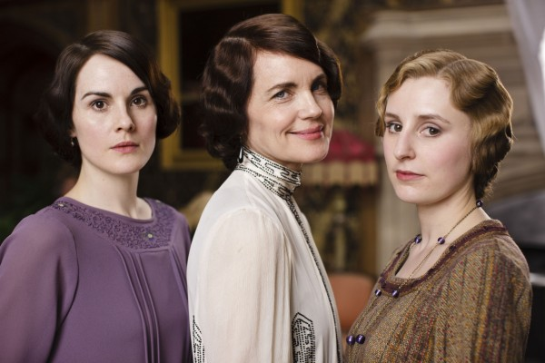 Lady Mary (Michelle Dockery), Lady Cora (Elizabeth McGovern) and Lady Edith (Laura Carmichael)