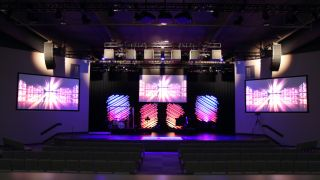 A d&b Y-Series loudspeaker array with a V-SUB array, supported by d&b ArrayProcessing, was installed in Lancaster Evangelical Free Church's new worship space.