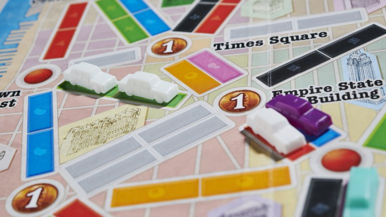 Best cheap board games 2021: Ticket to Ride New York close up