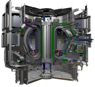 Here an illustration of the International Thermonuclear Experimental Reactor (ITER) that is being built in southern France to test the so-called tokamak method for producing energy through fusion reactions.
