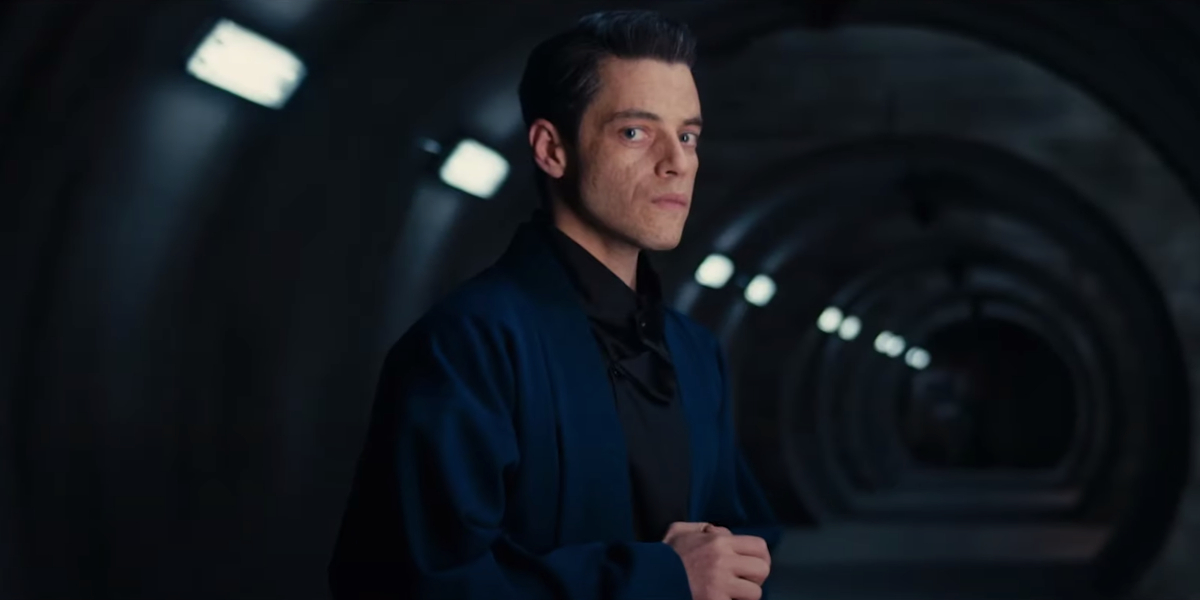 No Time To Die Rami Malek as Safin in the tunnel